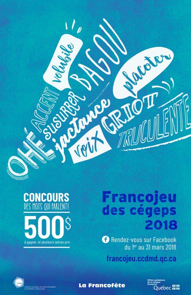Affiche Francojeu 2018